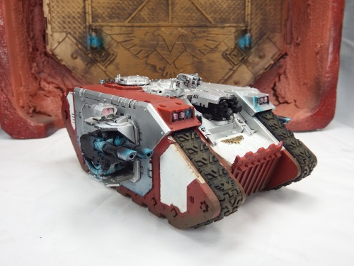 This landraider was touched up, weathered, and given some OSL love!